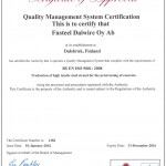 Fnsteel-Cares BS EN ISO 9001