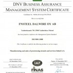 Fnsteel-Cert (UK) ISO 9001 2014 DLW